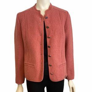GIESSWEIN JOSEF GEIGER Dusty Rose Wool Jacket  40